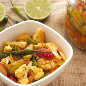 mixed vegetables achar