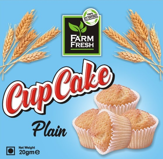 Farm Fresh Cup Cake Plain 12 Pcs